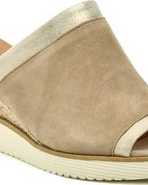 Béžové pantofle tamaris
