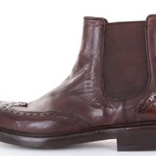 Green George Kotníkové boty 7056MAREMMA Hnědá
