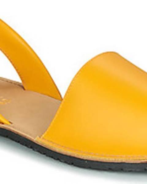 Žluté sandály So Size