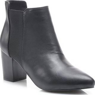 Pk Kotníkové kozačky Podzimní černé kotníkové boty ruznobarevne
