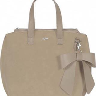 Grosso Velké kabelky / Nákupní tašky Béžová dámská kabelka s mašlí S739 Béžová