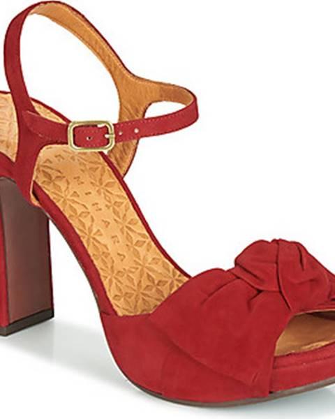 Červené sandály Chie Mihara