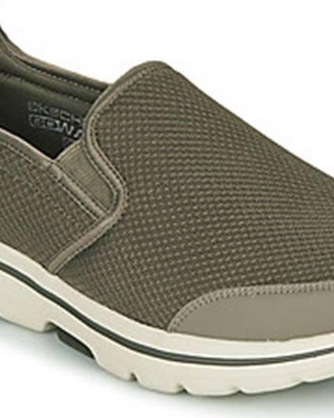 Khaki boty Skechers