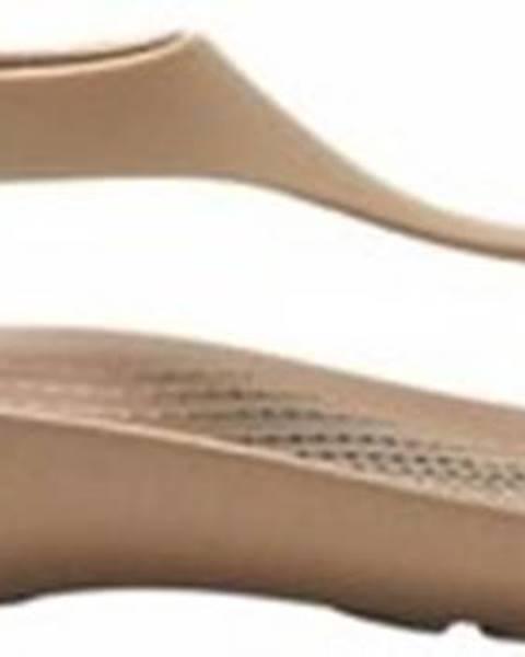 Béžové pantofle crocs