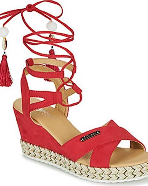 Červené sandály Kaporal