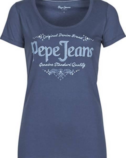 Modrý top pepe jeans