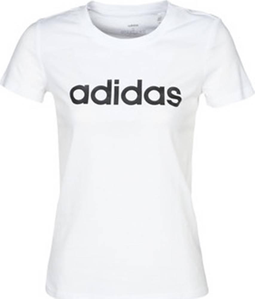 adidas adidas Trička s krátkým rukávem E LIN SLIM T Bílá