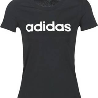 adidas Trička s krátkým rukávem E LIN SLIM T Černá