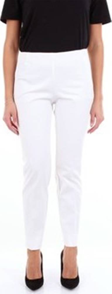 Maliparmi Maliparmi Oblekové kalhoty JH303712107 Bílá