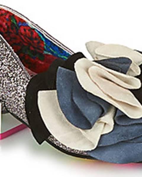 Stříbrné boty Irregular Choice