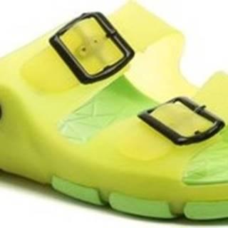 Scandi pantofle 58-0037-S1 zelené dámské plážovky Zelená