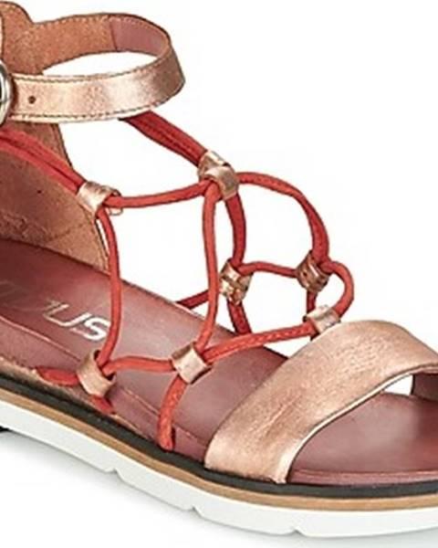 Zlaté sandály Mjus