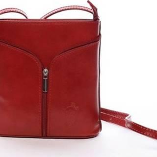 Italy Kabelky Dámská kožená crossbody kabelka červená - Hallie Červená