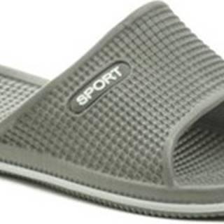 Scandi pantofle 58-0027-S1 šedé dámské plážovky