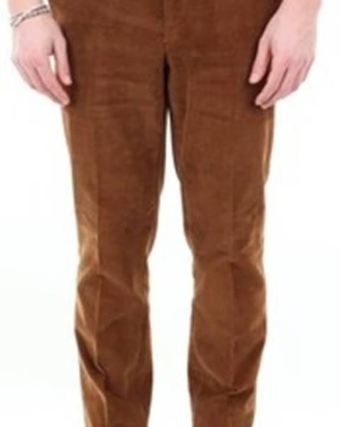 Hnědé kalhoty Incotex