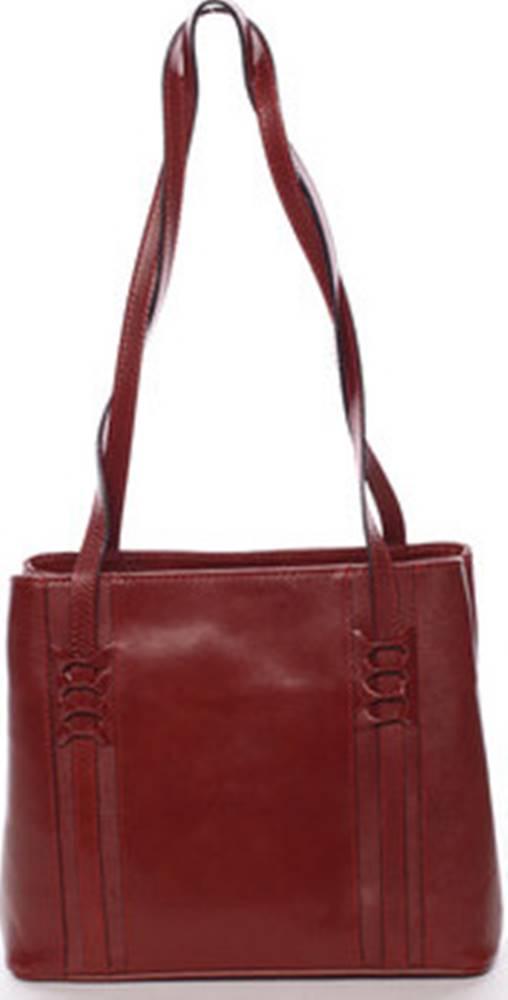 ITALY Italy Tašky přes rameno Červená kožená kabelka přes rameno - Zosima Červená