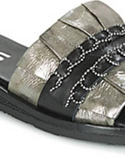 Khaki pantofle Mjus