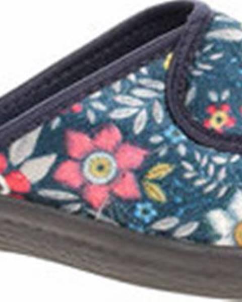 Modré pantofle Rejnok Dovoz