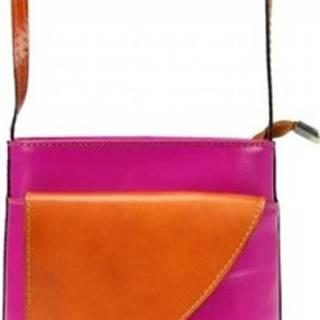 Gregorio Kabelky Kožená malá dámská crossbody kabelka růžová-hnědá Růžová