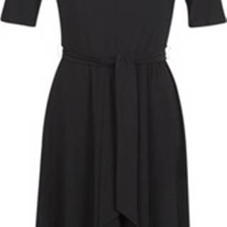 Lauren Ralph Lauren Krátké šaty 3/4 SLEEVE JERSEY DAY DRESS Černá
