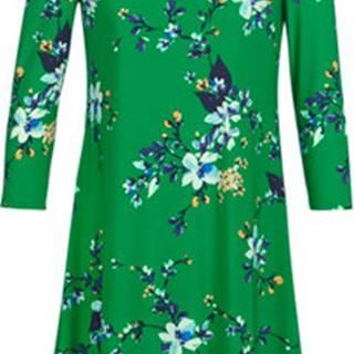 Lauren Ralph Lauren Krátké šaty FLORAL PRINT-3/4 SLEEVE-JERSEY DAY DRESS Zelená