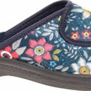 Rejnok Dovoz Papuče Dámské domácí pantofle Rogallo E/24316 modrá Modrá