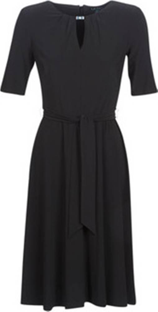 lauren ralph lauren Lauren Ralph Lauren Krátké šaty 3/4 SLEEVE JERSEY DAY DRESS Černá