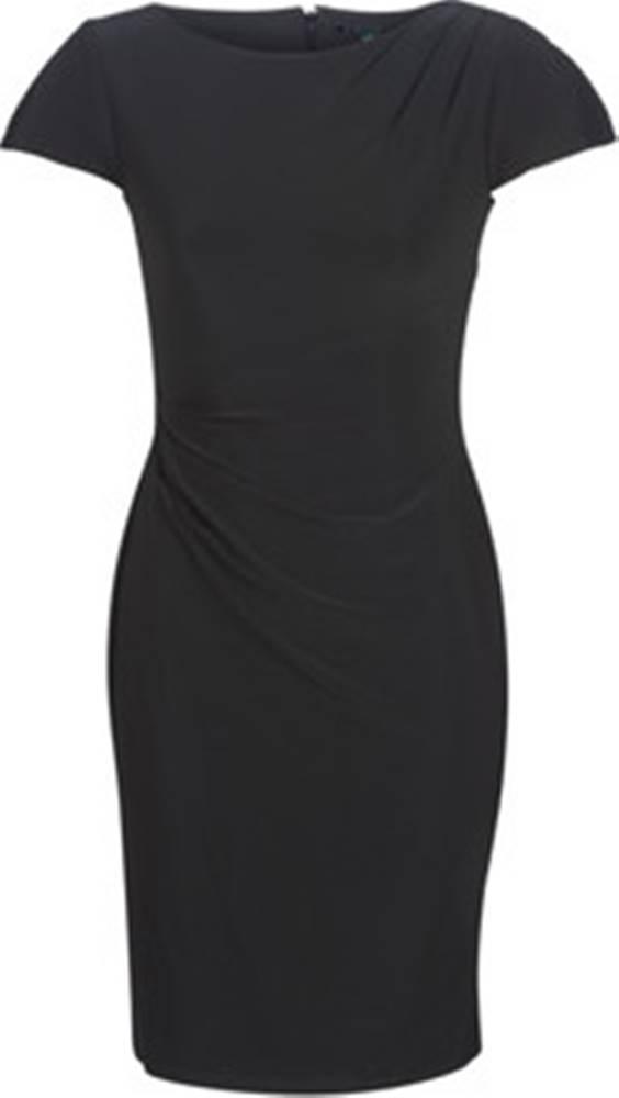 lauren ralph lauren Lauren Ralph Lauren Krátké šaty SHORT SLEEVE JERSEY DAY DRESS Černá