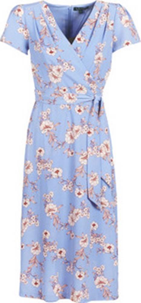 lauren ralph lauren Lauren Ralph Lauren Společenské šaty FLORAL PRINT- SHORT SLEEVE-DAY DRESS Modrá