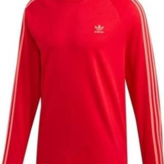 adidas Mikiny 3STRIPES Longsleeve Tshirt Červená