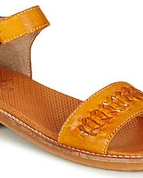 Žluté sandály Casta