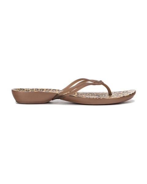 Hnědé pantofle crocs