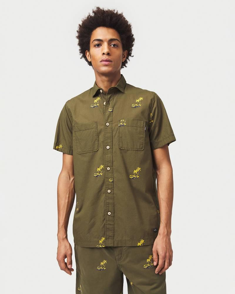 o'neill O'Neill Palm All Over Košile Zelená