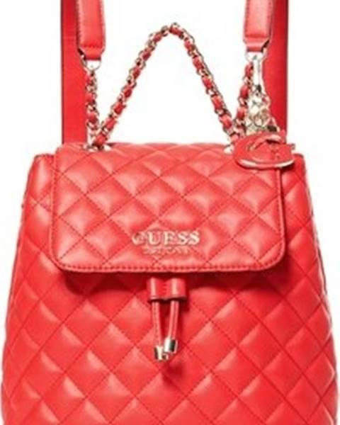Červený batoh Guess