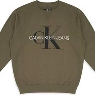 Calvin Klein Jeans Mikiny J30J313222 Zelená