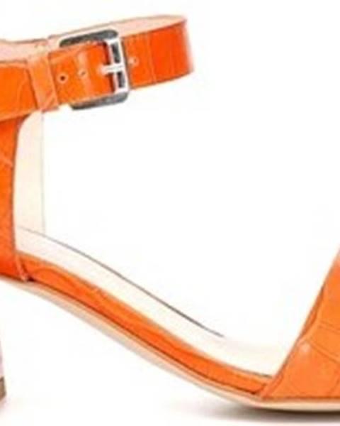 Oranžové sandály Cafe Noir