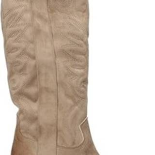 Grace Shoes Kozačky 544104 Béžová