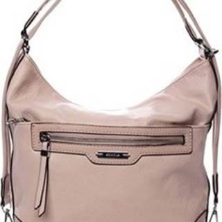 Kabelky s dlouhým popruhem Dámská kabelka batoh růžová - Romina Zilla Růžová