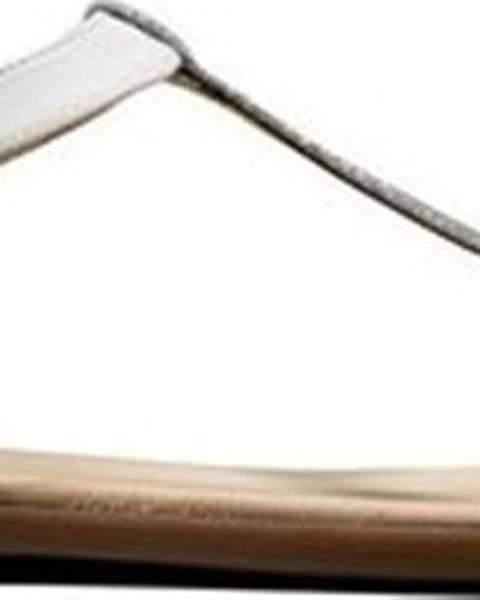 Bílé sandály Clarks