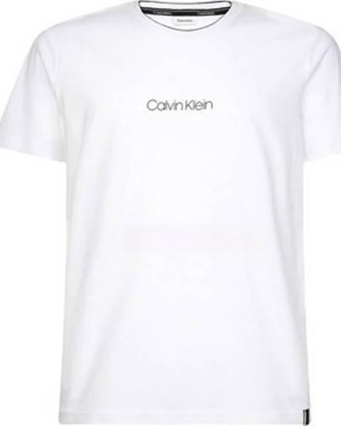 Bílé tričko calvin klein jeans