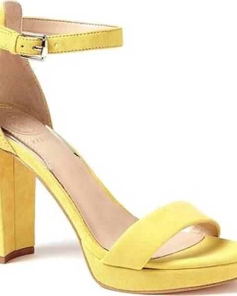 Žluté sandály Guess