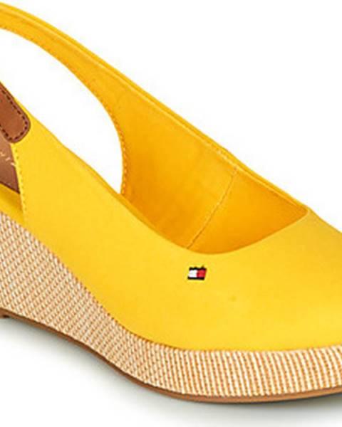 Žluté sandály tommy hilfiger