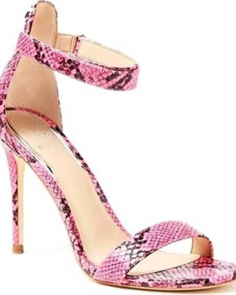 Růžové sandály Guess