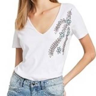 Gaudi Trička s krátkým rukávem 011BD64017 Bílá