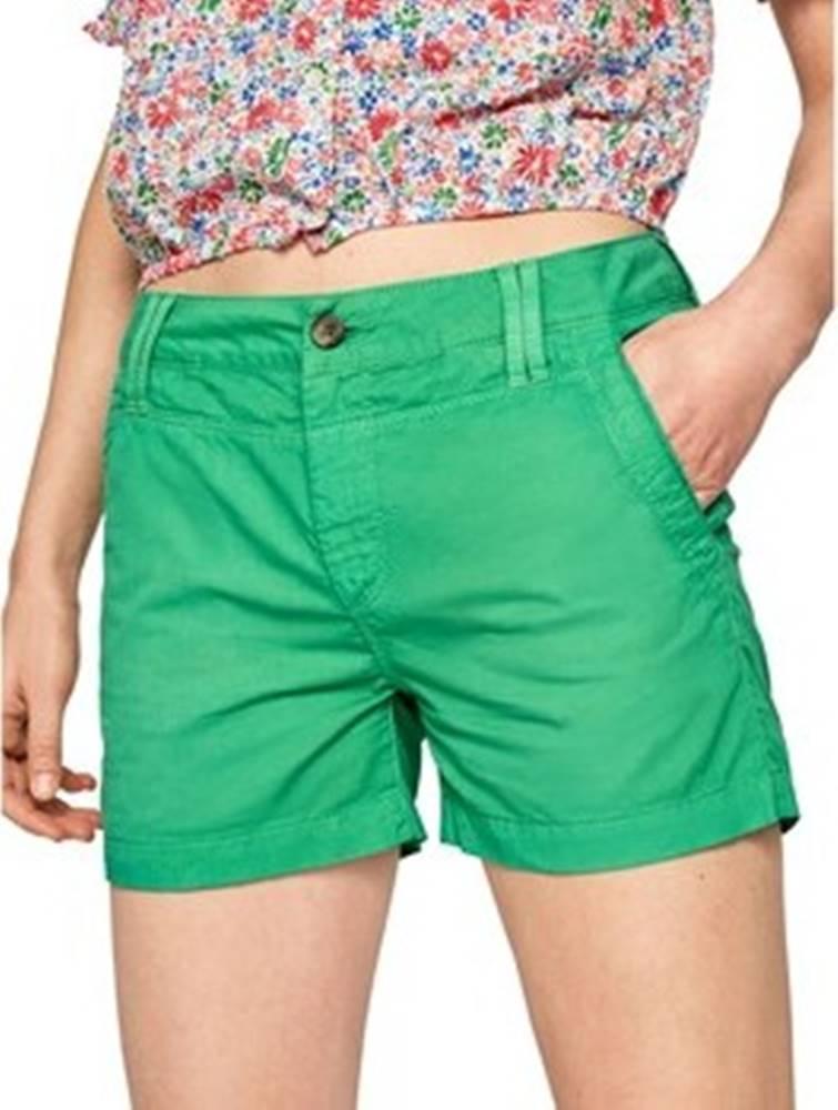 pepe jeans Pepe jeans Kraťasy & Bermudy PL800695 Zelená
