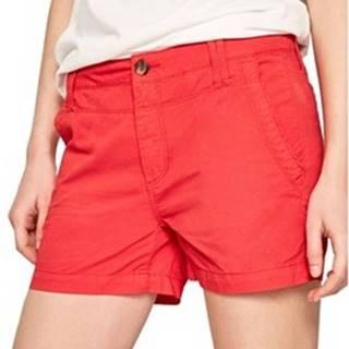 Pepe jeans Kraťasy & Bermudy PL800695 Červená