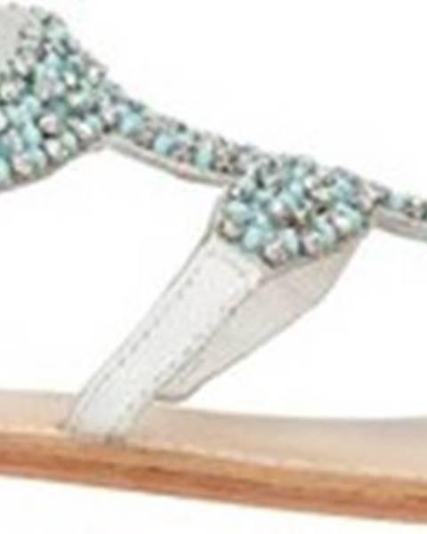 Bílé sandály Cristin