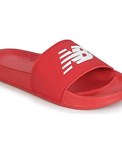 Červené pantofle new balance