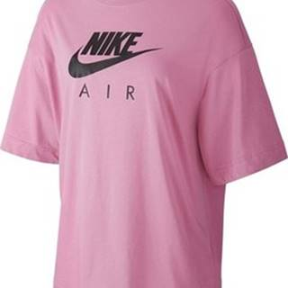 Nike Trička s krátkým rukávem W Nsw Air Top SS BF Růžová