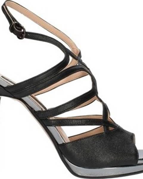 Černé sandály Bacta De Toi